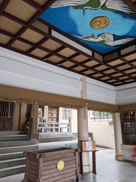 4光雲神社の鶴