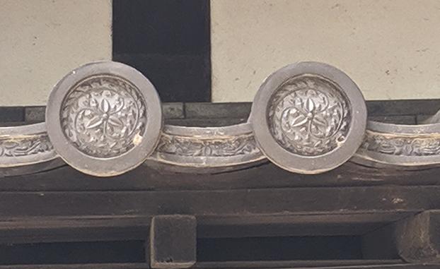 福岡城名島門瓦