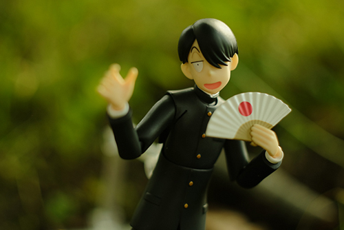 ツバキアキラが撮った、figma、R・田中一郎。あ~るくんには、外もよく似合います。