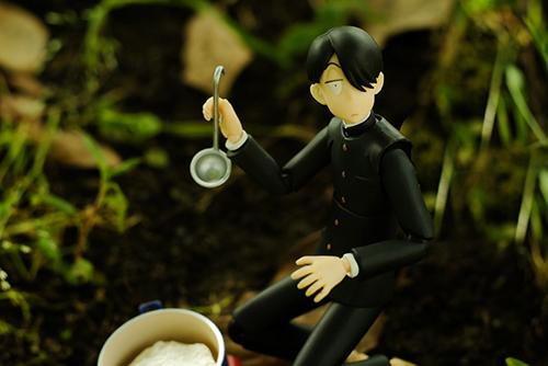 ツバキアキラが撮った、figma、R・田中一郎。おかゆライスのシーンに挑戦です。