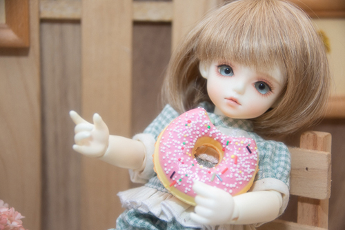 ROSEN LIED、Tuesday's child、通称・火曜子のチェルシー。おいしそうなドーナツを貰いました。