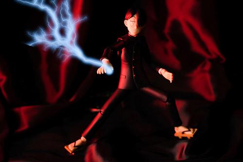 ツバキアキラが撮った、figma、R・田中一郎。雷を放つ、あ~るくん。特に深い意味はありません。