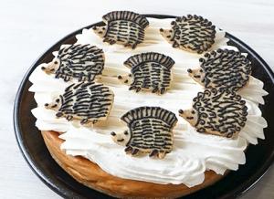 ハリネズミのキャラメルバナナチーズケーキ
