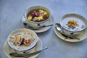 季節のフルーツと豆乳シロップ・チェー