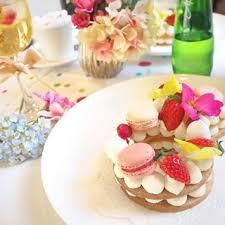 marryカフェ 指輪ケーキ