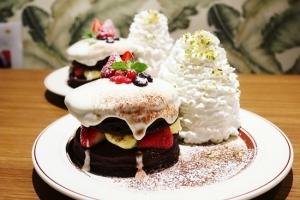 クリスマスショコラショートパンケーキ