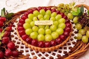 2色のブドウのタルト