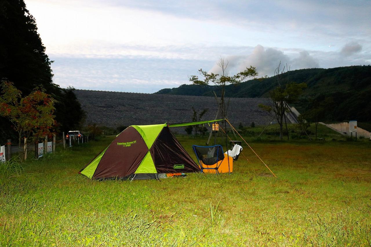 ひさしぶりのキャンプツーリング(茂庭広瀬公園キャンプ場)