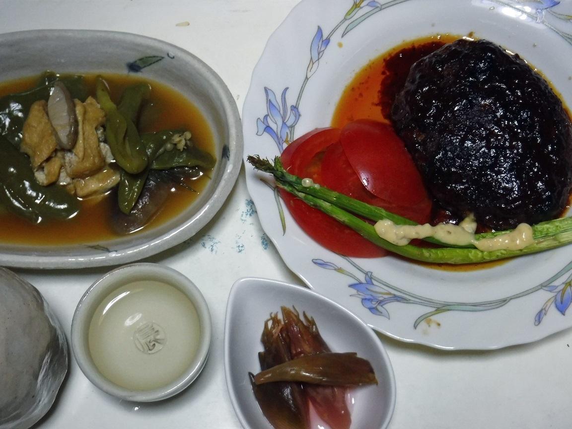 ブログ 夕食 ハンバーグ定食.jpg