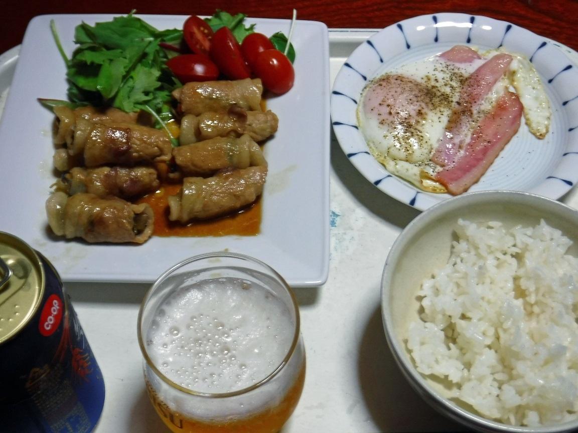 ブログ 夕食  肉巻き定食.jpg