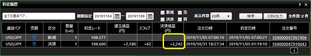 DMM FX20191104-20191109_約定