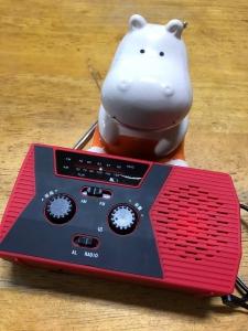 災害用ラジオ付き懐中電灯