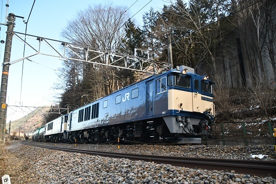 2020年2月1日撮影 西線貨物8084レ EF64原色重連