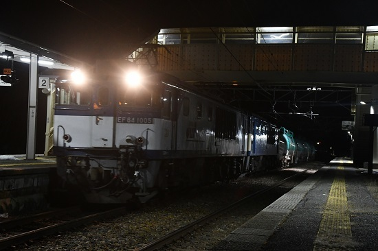 2020年2月1日撮影 西線貨物8885レ 洗馬駅進入