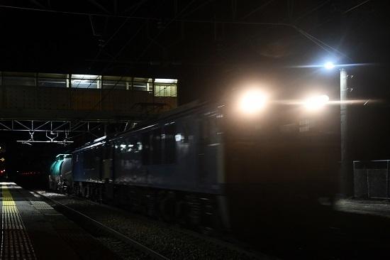 2020年2月月1日撮影 西線貨物8081レ 洗馬駅通過