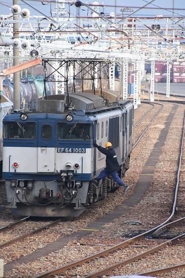 2019年12月21日撮影 南松本にて西線貨物8084レ 機回し2