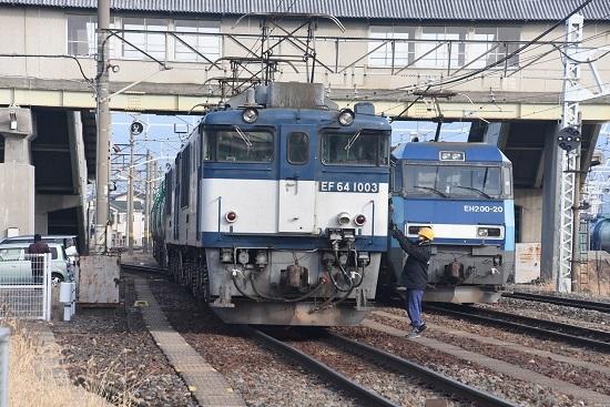 2019年12月21日撮影 南松本にて西線貨物8084レ 無線機返却