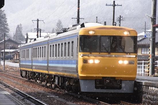 2020年2月23日撮影 飛騨一ノ宮駅にキヤ95 DR2編成入線