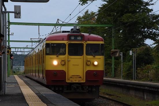 2019年9月21日撮影 小島谷駅 115系N40編成 懐かしの新潟色