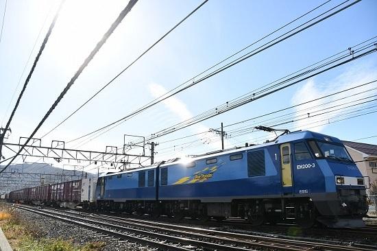 2019年11月19日撮影 東線貨物2083レ EH200-3号機がキラッ!