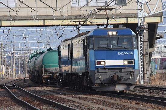 2019年12月22日撮影 南松本にて東線貨物2080レ機回し中
