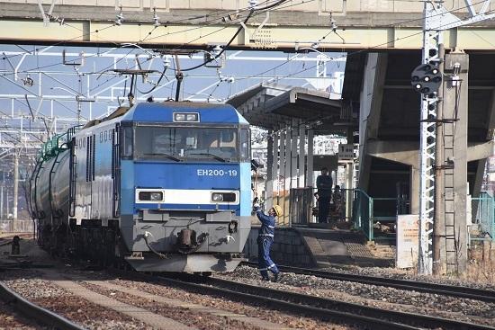 2019年12月22日撮影 南松本にて東線貨物2080レ 無線機返却