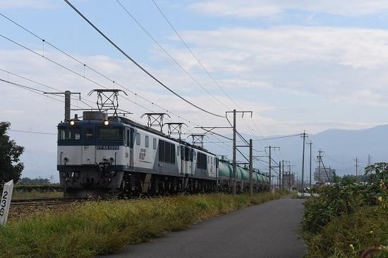 2019年9月28日撮影 西線貨物6088レ EF64-1009+1011号機