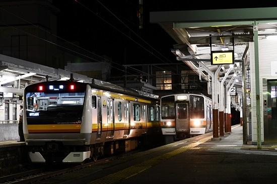 2019年9月7日 9714M E233系と213系の並び