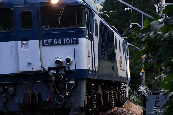 2019年10月17日撮影 EF64-1017号機のナンバープレート
