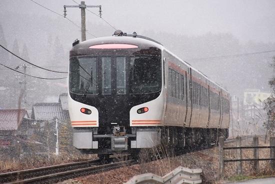 2020年2月23日撮影 高山本線 HC85系試運転 久々野駅後撃ち