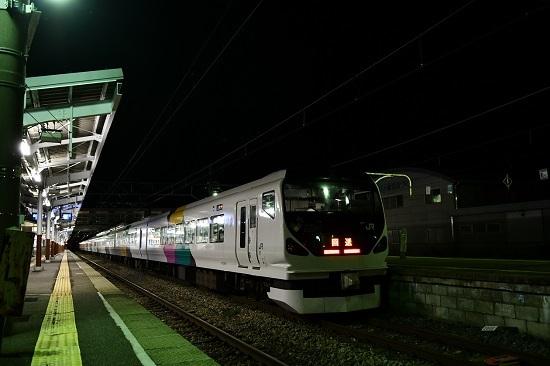 2019年9月7日 E257系 諏訪湖新作花火号 岡谷駅停車中