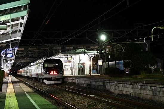 2019年9月7日 E257系 諏訪湖新作花火号 岡谷駅発車