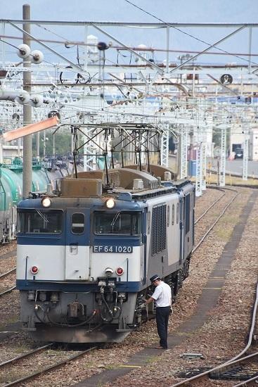 2019年9月28日撮影 南松本にて EF64出区前の仕業点検
