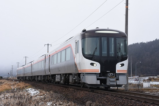 2020年2月23日撮影 高山本線 HC85系試運転 飛騨古川ストレート