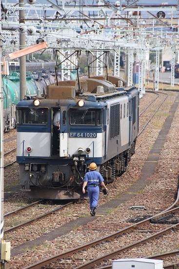 2019年9月28日撮影 南松本にて EF64貫通扉を閉める
