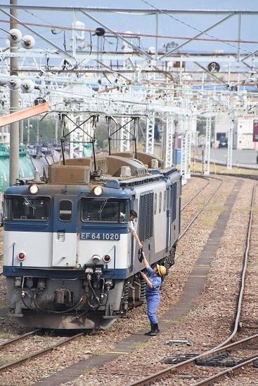 2019年9月28日撮影 南松本にて西線貨物8084レ 無線機渡し