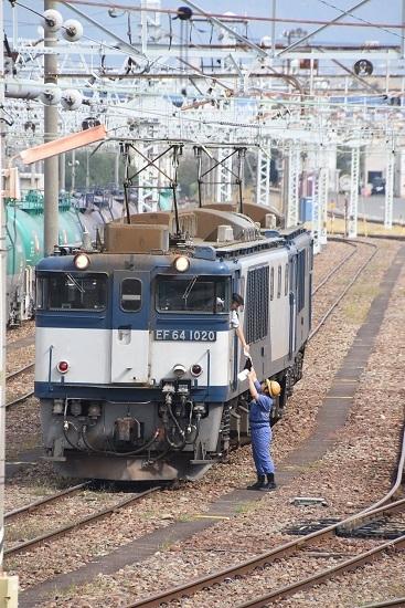 2019年9月28日撮影 南松本にて西線貨物8084レ メモ渡し