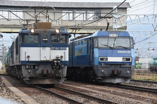 2019年9月28日撮影 南松本にて西線貨物8084レ パン上げ確認