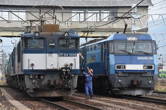 2019年9月28日撮影 南松本にて西線貨物8084レ 無線機返却