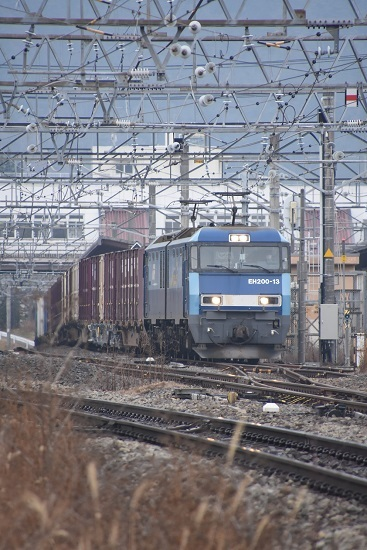 2019年12月22日撮影 東線貨物2083レ EH200-13号機