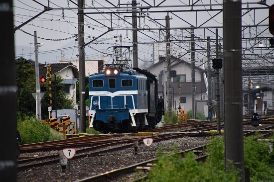 2019年9月13日撮影 秩父鉄道 武川にてデキ303+C58-363号機