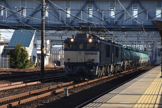 2019年12月28日撮影 西線貨物8084レ 清洲駅にて