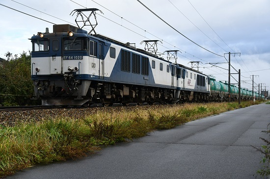 2019年10月19日撮影 西線貨物6088レ 定番