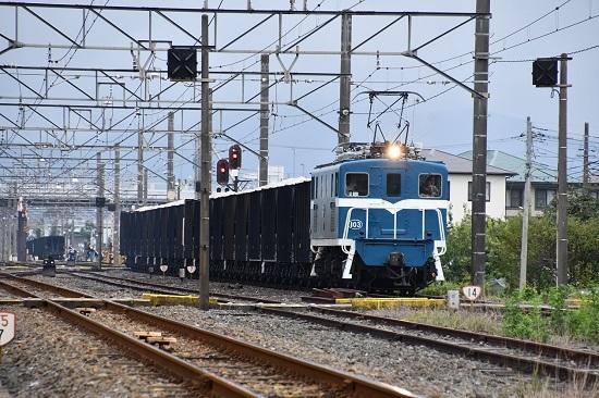 2019年9月13日撮影 秩父鉄道 デキ103が牽くヲキフ