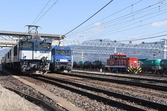 2020年2月9日撮影 南松本にてHD300-31号機とEH200とEF64