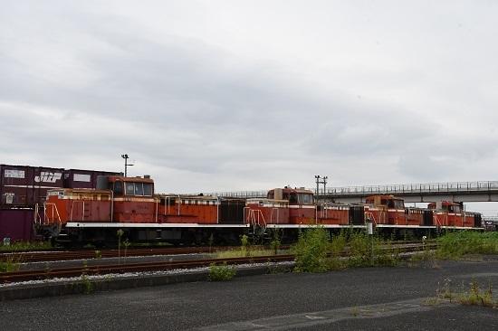 2019年9月13日撮影 熊谷貨物ターミナルにてDE10廃車群