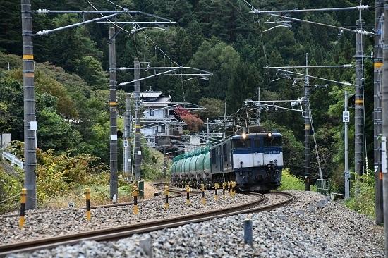 2019年10月19日撮影 西線貨物8883レ 本山にて