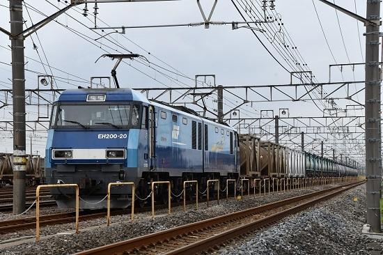 2019年9月13日 4074レ EH200-20号機 発車待ち