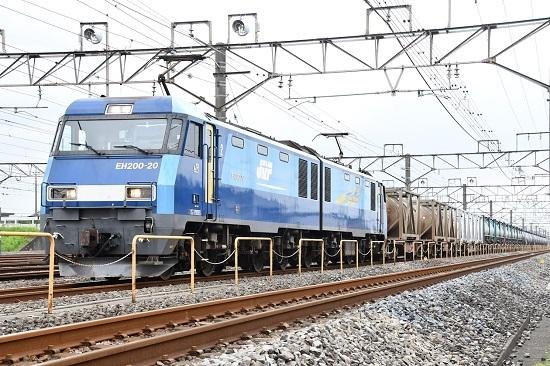 2019年9月13日 4074レ EH200-20号機 発車