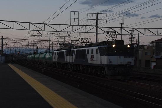 2019年12月28日撮影 西線貨物8885レ EF64-1004+1047号機